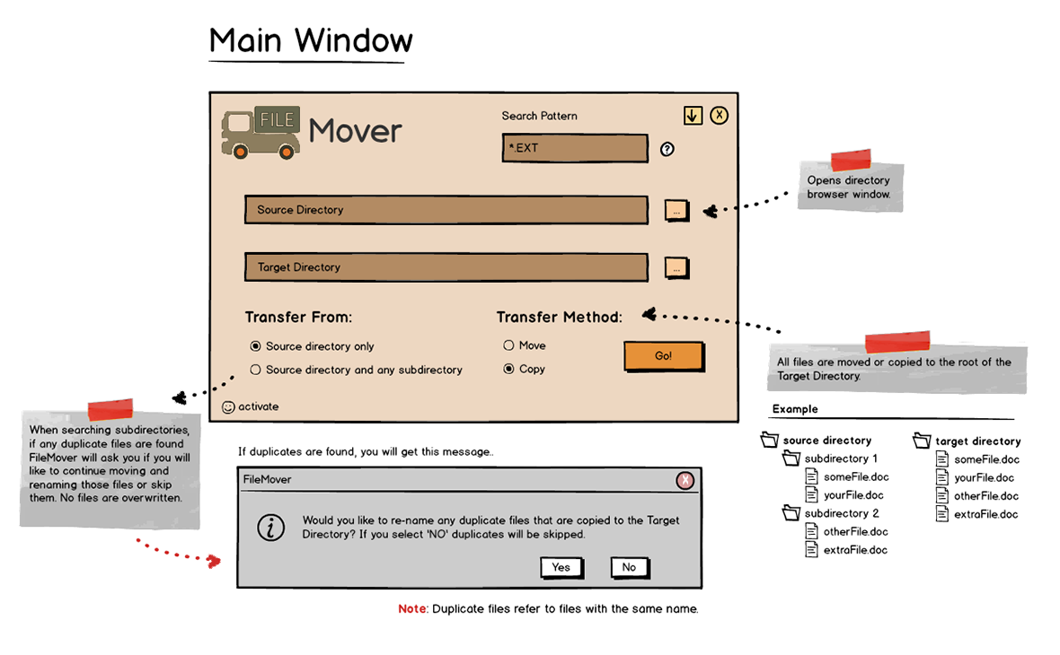 FileMover Main Window